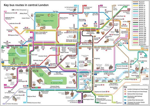 Carte et Plan Bus de Londres