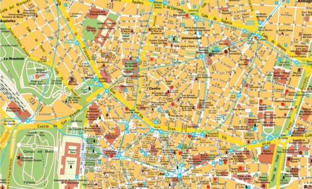 Carte et Plan de Madrid