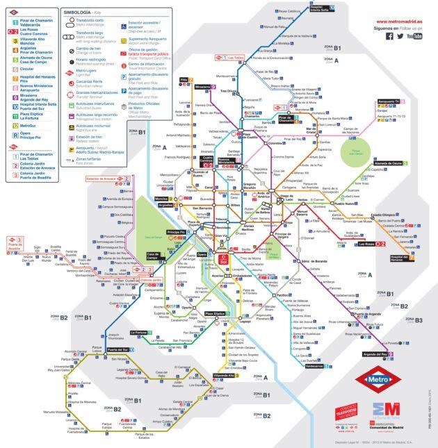 Carte et Plan du Métro de Madrid
