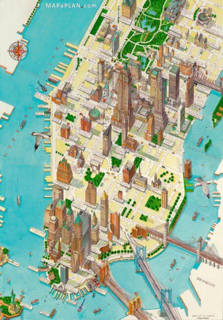 Carte et plan touristique de Manhattan (New York)