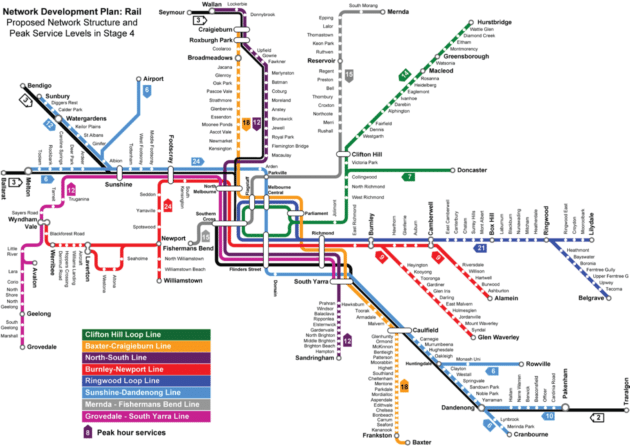 Carte et Plan du Métro de Melbourne