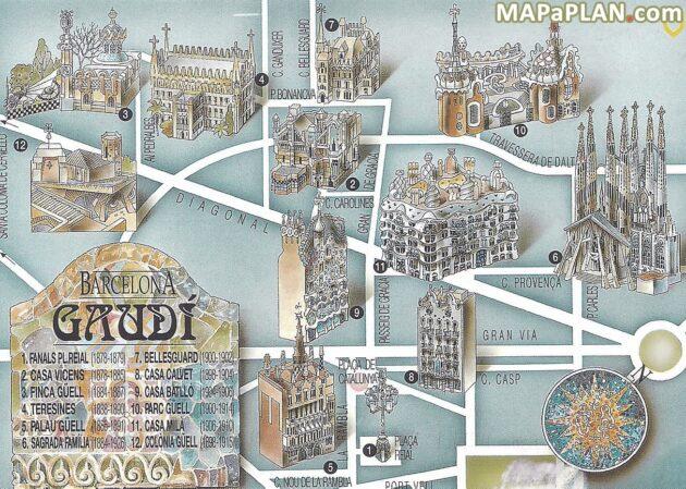 Cartes et plans détaillés de Barcelone