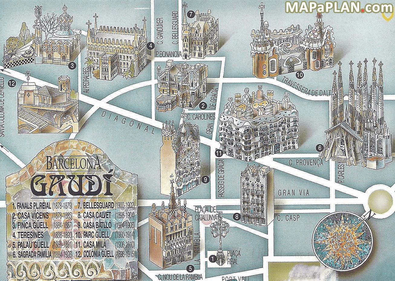 Carte Barcelone Place Despagne.Cartes Et Plans Detailles De Barcelone