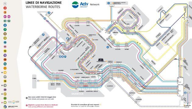Carte et Plan des Transports de Venise