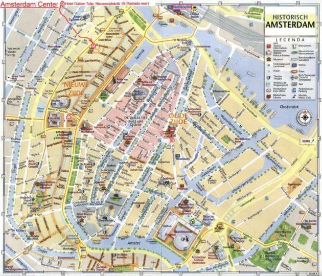 plan centre historique Amsterdam
