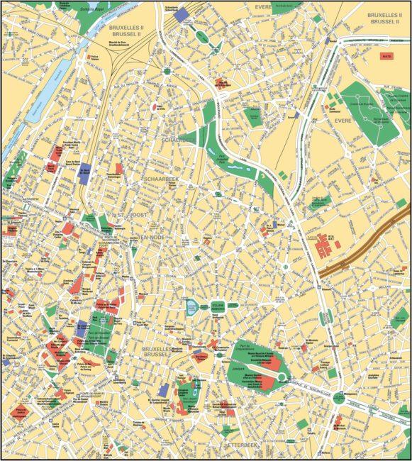 Carte Et Plan De Bruxelles