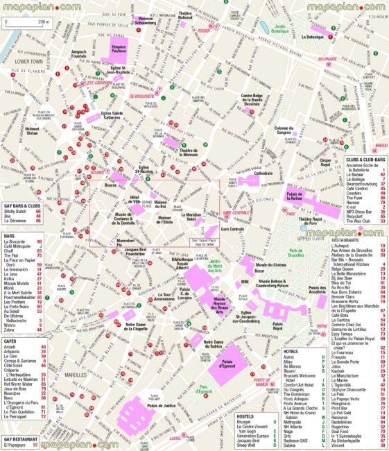 Carte et Plan du Centre de Bruxelles