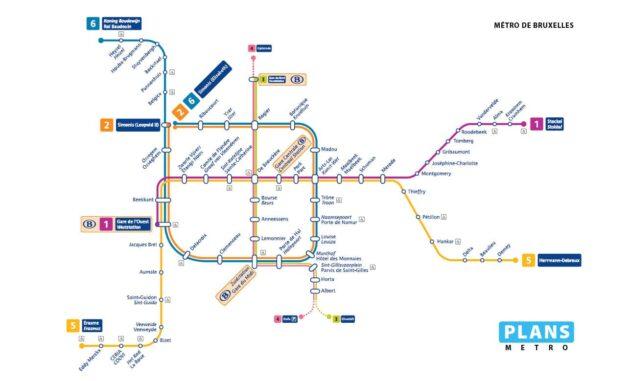 Carte et Plan du Métro de Bruxelles