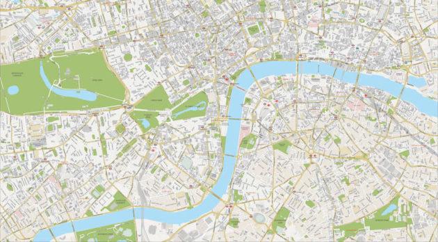 Cartes et plans détaillés de Londres