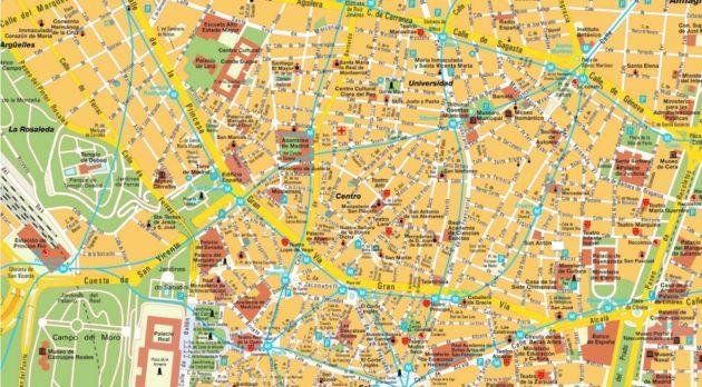 Cartes et plans détaillés de Madrid