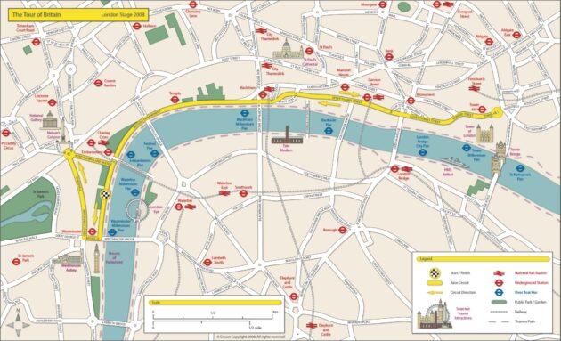 Carte et Plan du Centre de Londres
