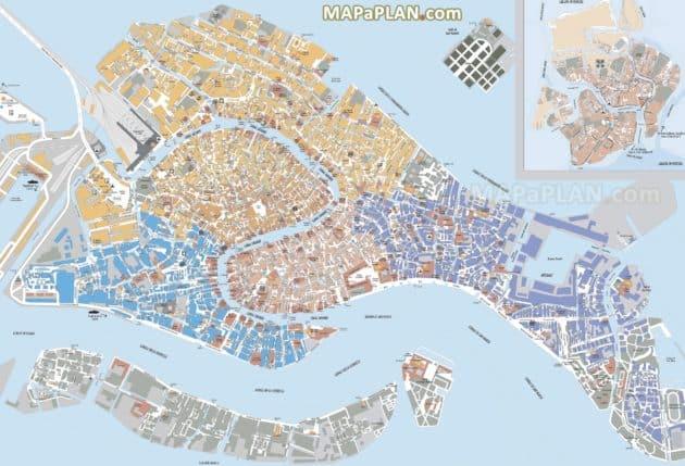 Carte et Plan de Venise