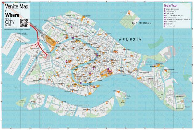 Carte et Plan des Monuments de Venise