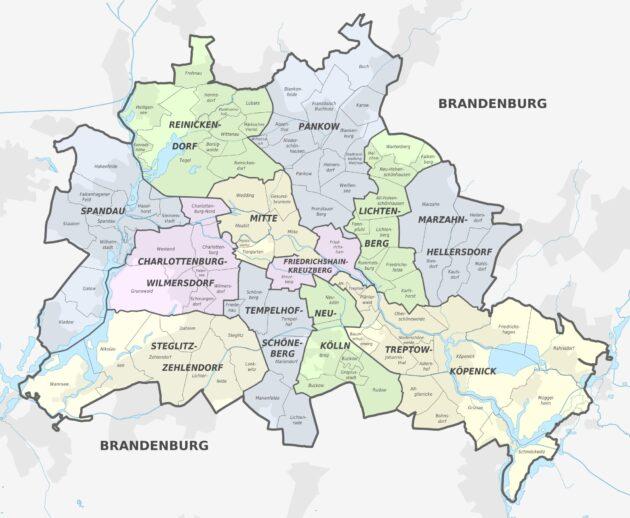 Plan et carte des quartiers de Berlin