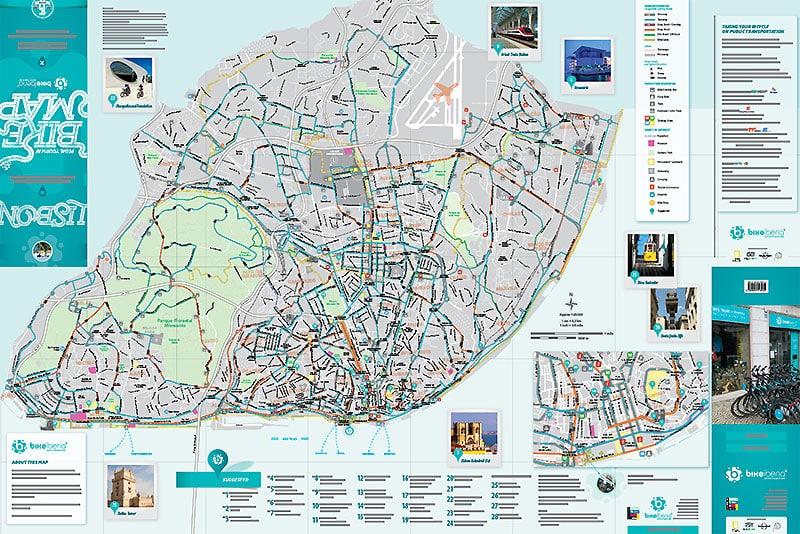 Munissez Vous De La Carte Des Pistes Cyclables A Lisbonne