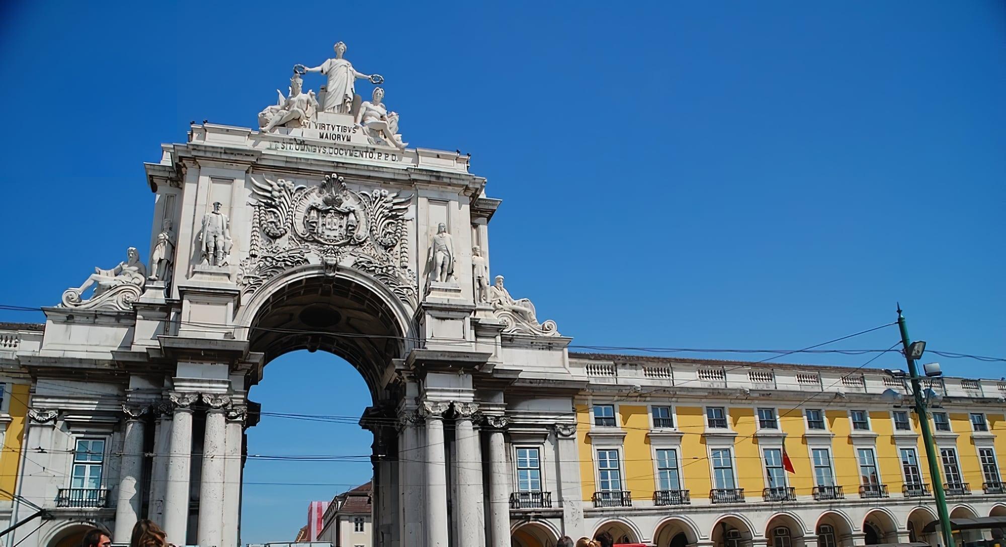 Visite de l'arc de triomphe de la Rua Augusta à Lisbonne