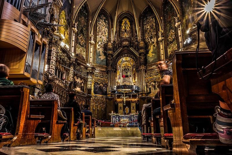 Intérieur de l'Abbaye de Montserrat près de Barcelone