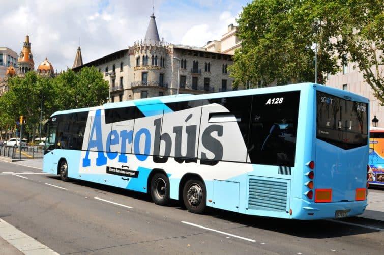 Aérobus, bus reliant l'aéroport de Barcelone jusqu'au centre
