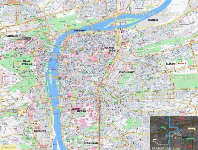 Plan & Carte Prague