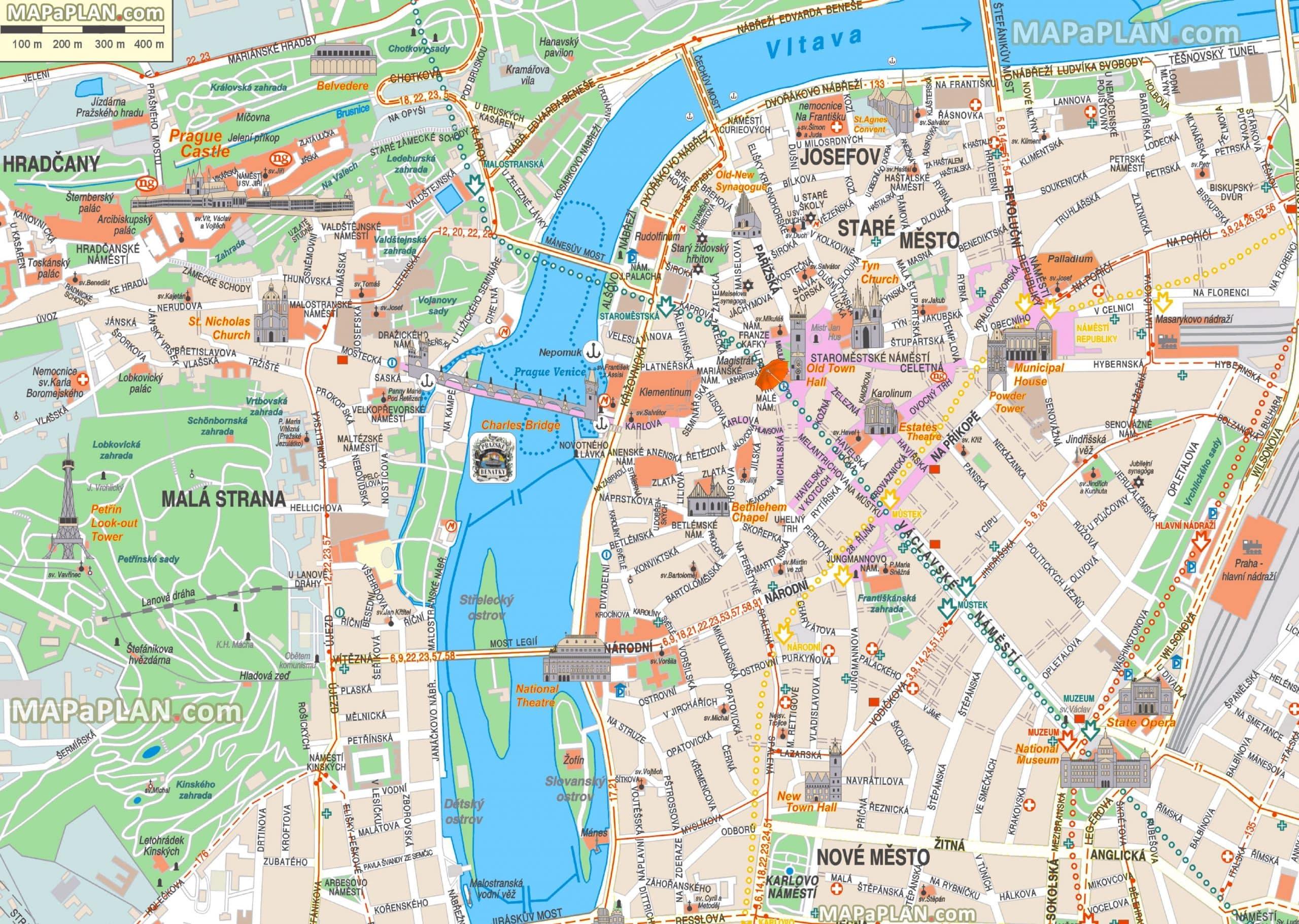 Cartes Et Plans Detailles De Prague