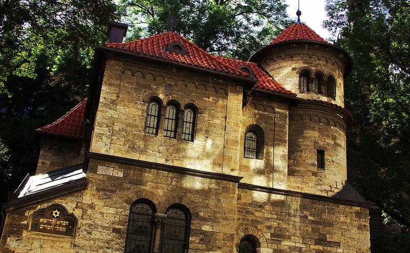 Quartier Josefov à Prague, synagogue Klausen