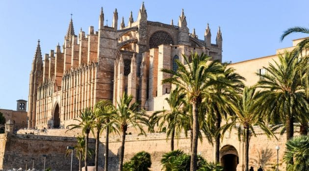Carte détaillée de Palma de Majorque et arrivée depuis l'aéroport de Palma