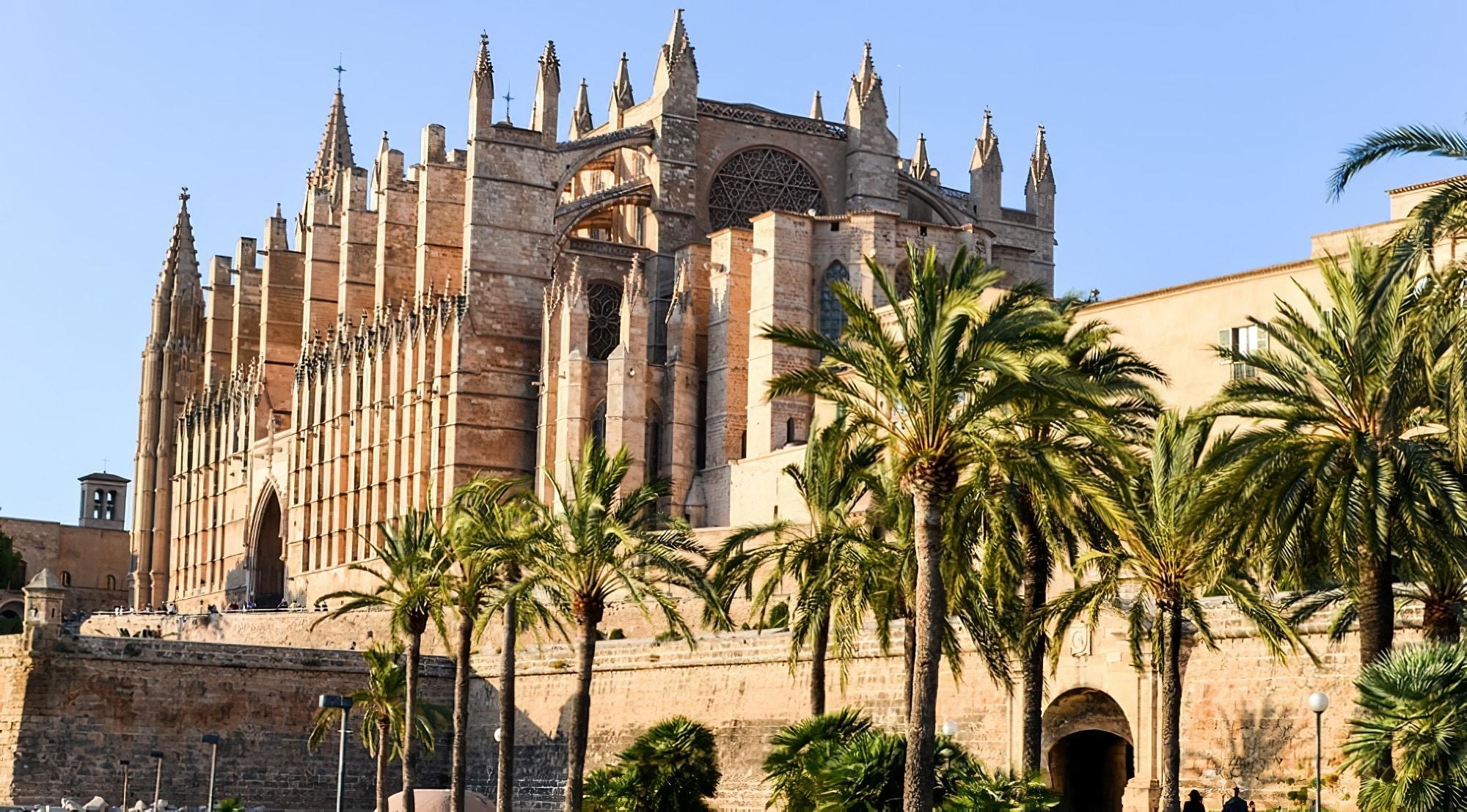 Arrivée à Palma de Majorque depuis l'aéroport, carte