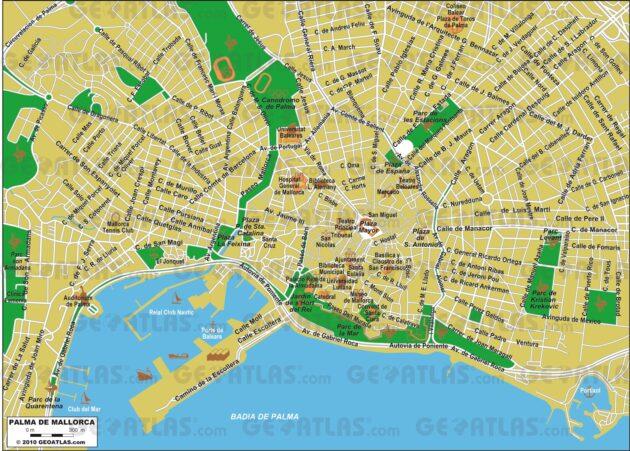 Carte et plan détaillés de Palma de Majorque