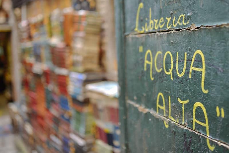Venise en dehors des sentiers battus: libreria acqua alta