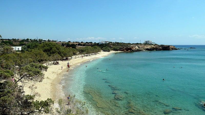 Plages de Paros dans les Cyclades
