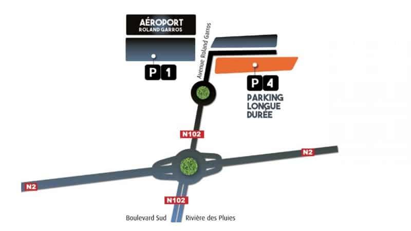 Plan des parkings de l'aéroport de La Réunion