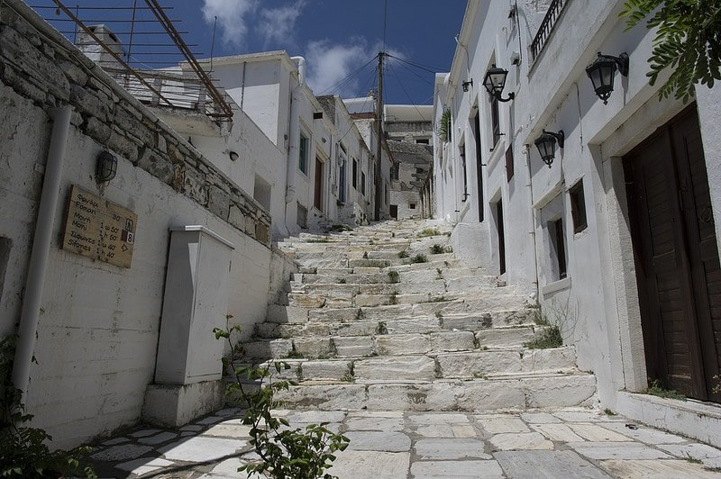 Apiranthos, loger à Naxos