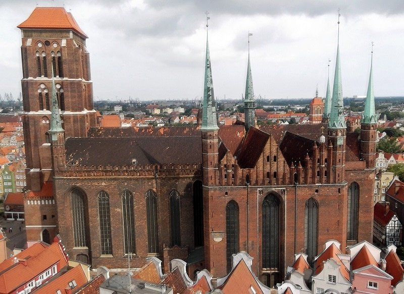 9 choses Incontournables à faire à Gdansk, église Sainte-Marie