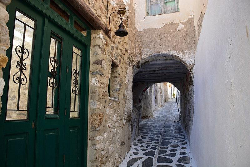 Kastro, loger à Naxos
