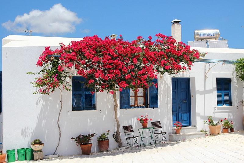 Lefkès, loger à Paros