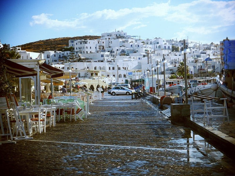 Naoussa, loger à Paros