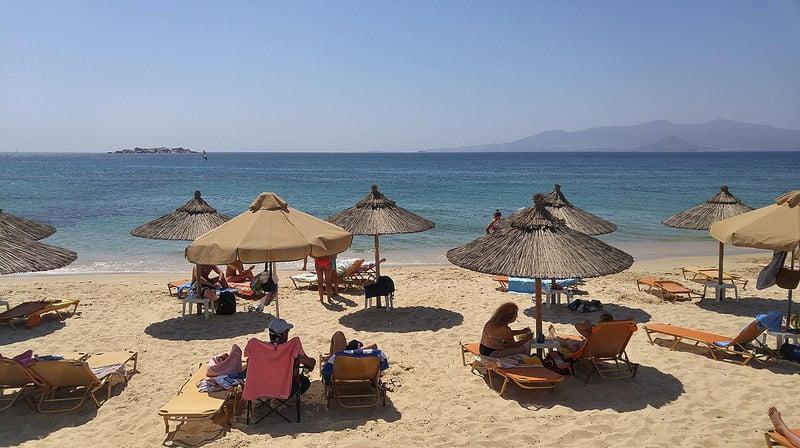 Plaka Beach, loger à Naxos