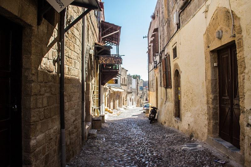 Vieille ville, loger à Rhodes