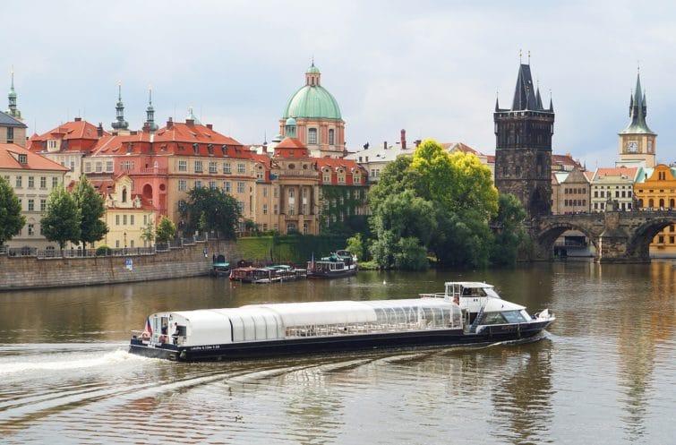 Croisière en bateau sur la Vltava à Prague