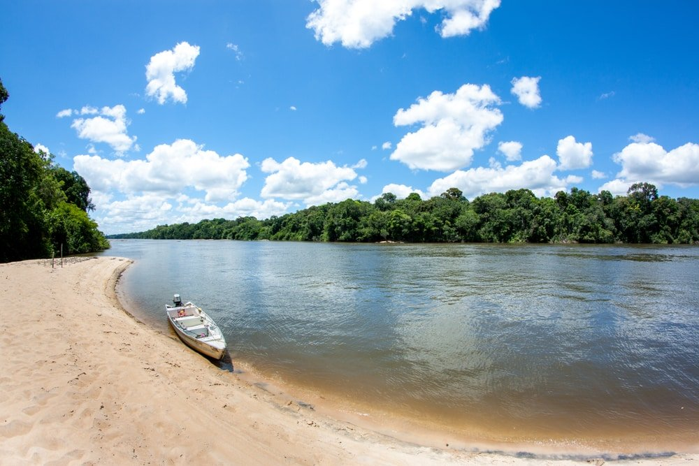 Une balade en bateau en Guyane