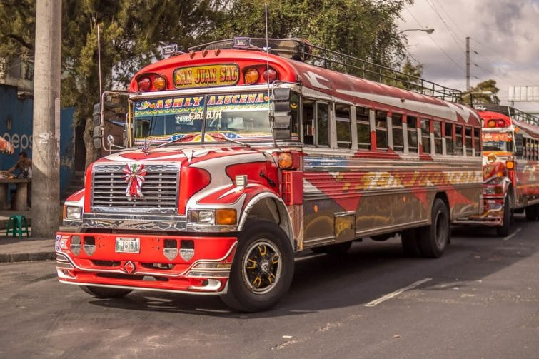 Chicken bus au Guatemala