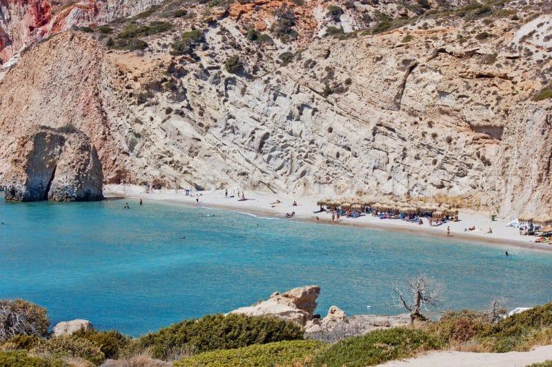 Ou loger Milos, les plages