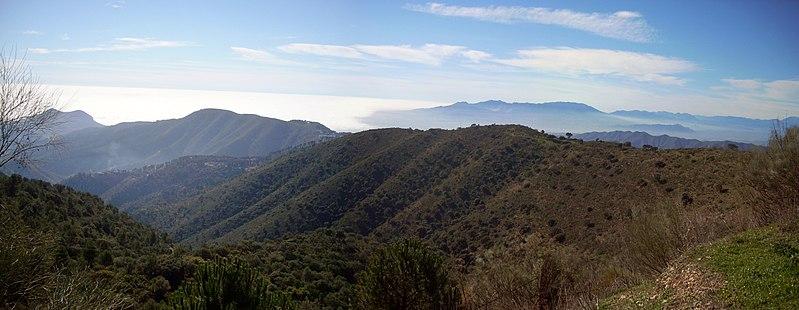 Visiter Malaga, Montes parc national