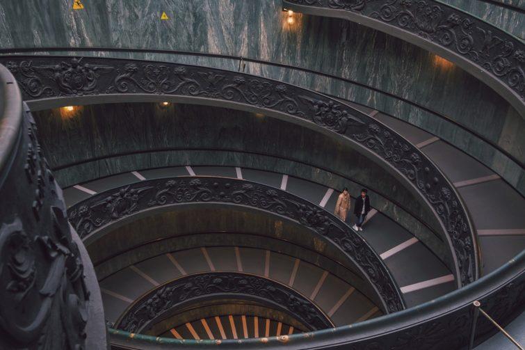 Escaliers des Musées du Vatican