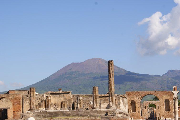 Pompéi depuis Sorrente