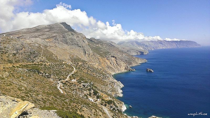 Randonnée dans la montagne, Amorgos