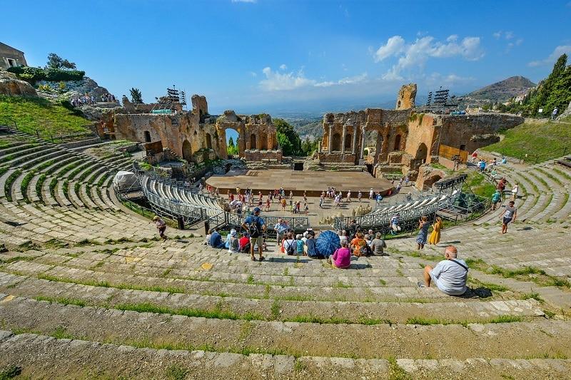 Taormine, le theatre grec antique