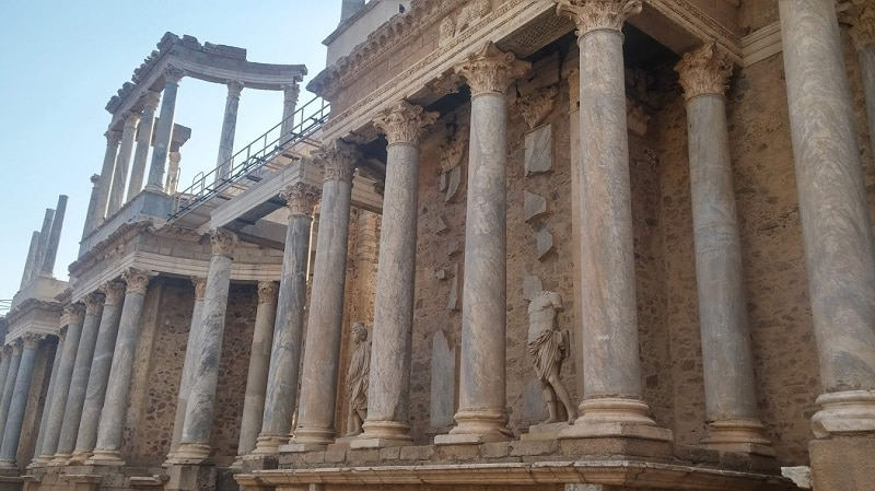 Temple romain de Mérida, Estremadure