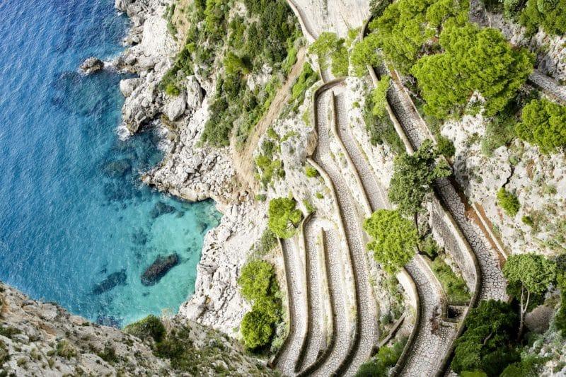 Visiter Capri, Via Krupp