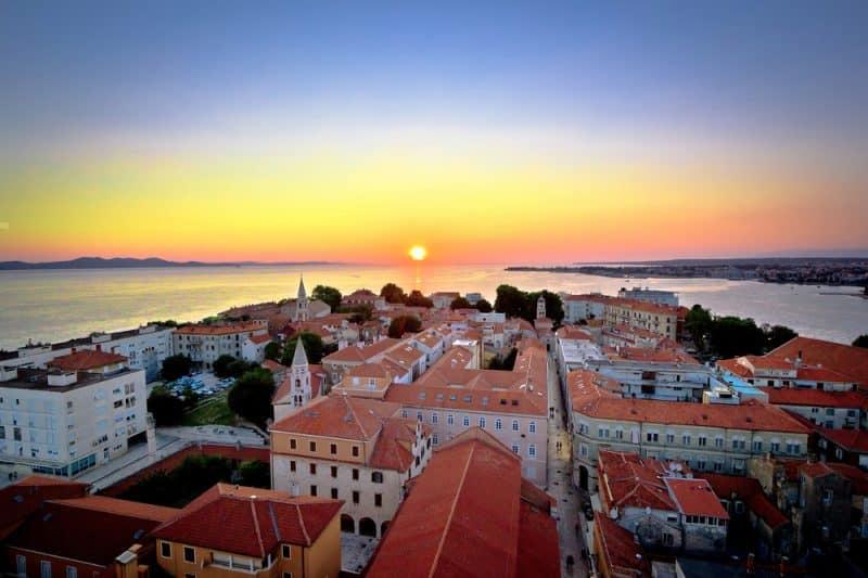 Coucher de soleil à Zadar, Croatie